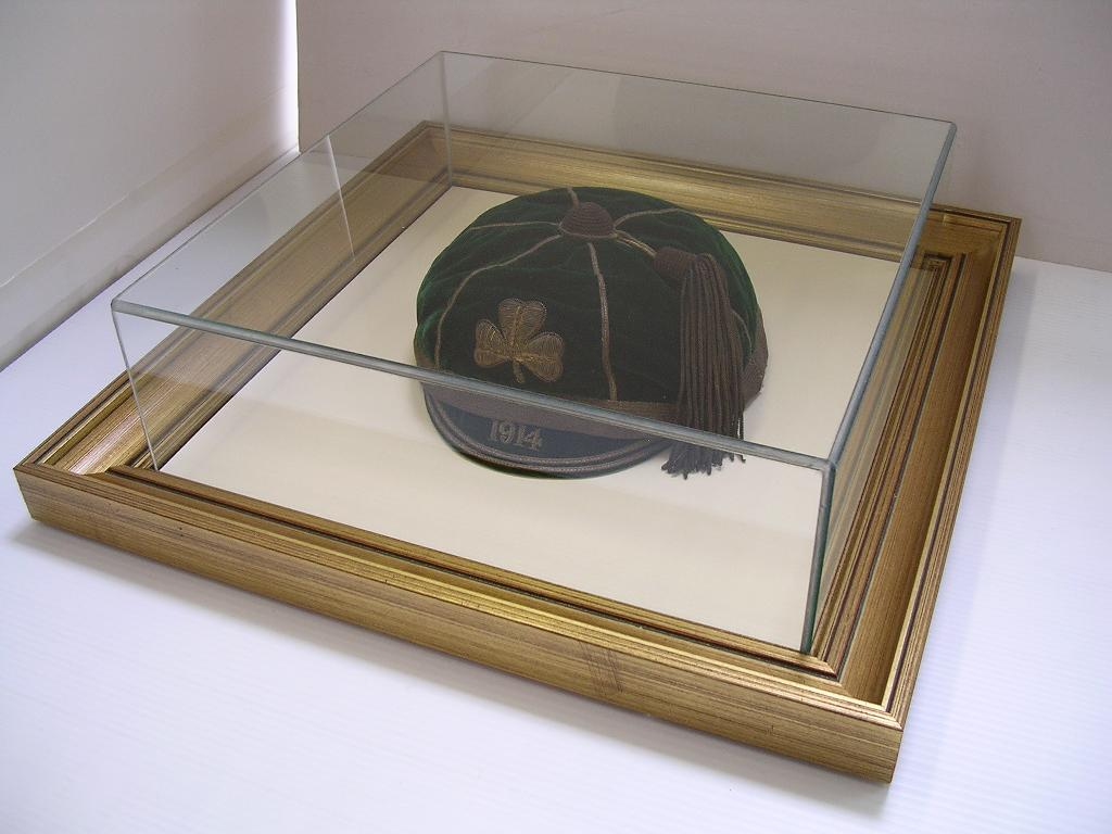 School Cap in a Glass Box with frame