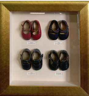 Brothers and Sisters first shoes - framed for parent's anniversary